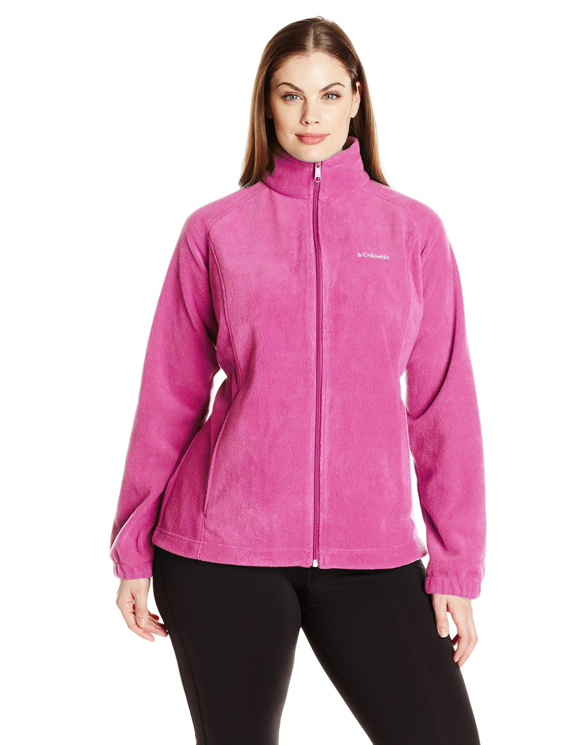 Columbia Women's Plus Size Benton Springs Full Zip Jacket, Fuchsia, 2X