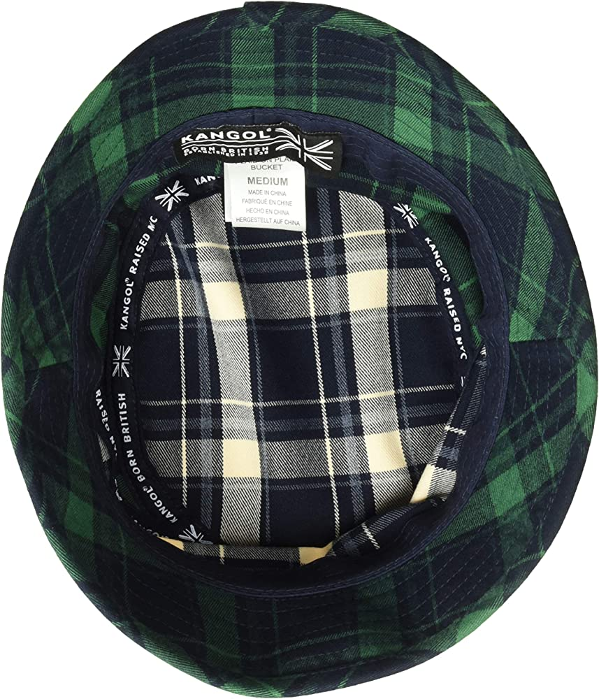 836e6177693e28 Kangol Men's Plaid Bucket HAT, Navy, S at Amazon Men's Clothing store: