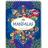 Mandala Coloring Books for Adults by Colorya - Spiral-Bound, Premium Quality Paper, No Medium Bleeding, One-Sided Printing, A4 Size + Extra eBook with Coloring Examples and Tips for Easy Coloring