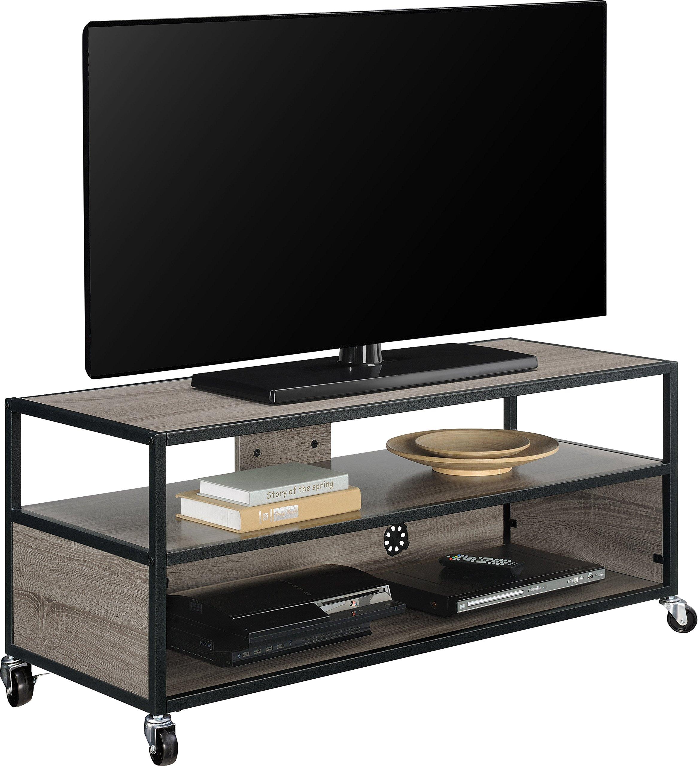 Altra Mason Ridge Mobile 46'' TV Stand with Metal Frame, Sonoma Oak/Black by Altra Furniture (Image #9)
