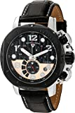 Swiss Legend Men's 'Scubador' Quartz Stainless Steel and Leather Watch, Color:Black (Model: 10538-01-BB-RP)