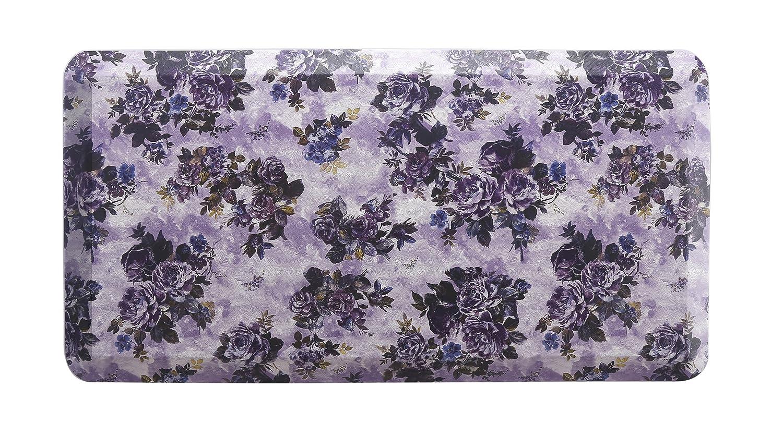 "HEALEG Premium Kitchen Anti Fatigue Mat,Cushioned Comfort Floor Mats,Standing Desk Mats for Office and Home (Purple, 20""x39""x3/4"")"