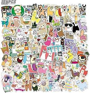 150 PCS Lovely Alpaca Stickers for Kids Teens Llama Vinyl Waterproof Stickers for Laptop Water Bottle