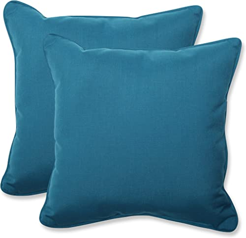 Pillow Perfect Outdoor Indoor Spectrum Peacock Throw Pillows, 18.5 x 18.5 , Blue, 2 Pack