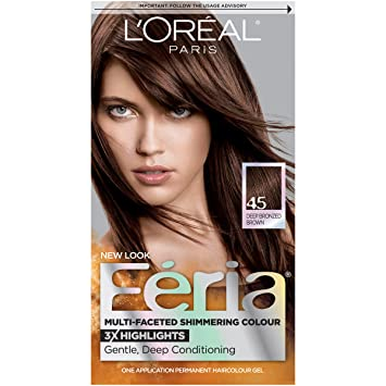 Amazon.com : L\'Oréal Paris Feria Permanent Hair Color, 45 French ...