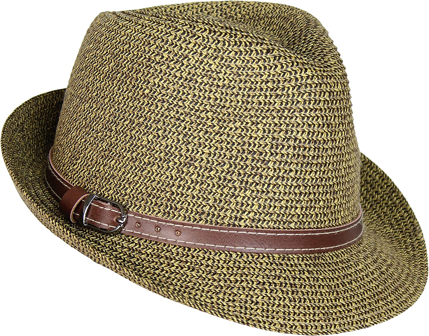 Straw Panama Hat Tweed...