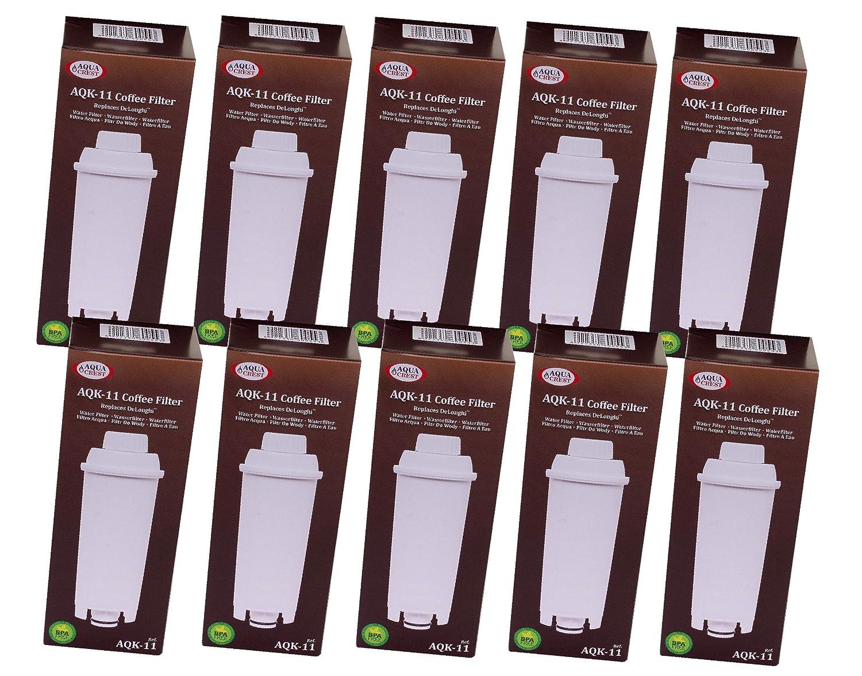 aqk-11 Filtro de agua para DeLonghi Cafetera Eléctrica equivalente ...