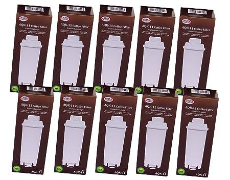 aqk-11 Filtro de agua para DeLonghi Cafetera Eléctrica ...