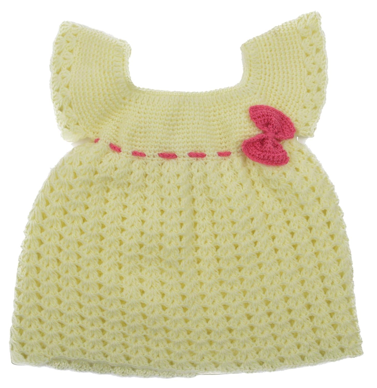 kuchipoo Baby Girls Hand Knitted Woollen Knee Long Dress KUC FRK