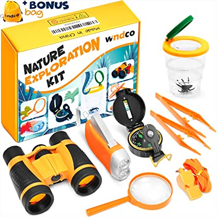 b348d8432 Windco Kids Explorer Kit - 10Pieces Kids Outdoor Kit - Boys Camping Kit  with Compass and Binoculars - Kids Camping Gear - Kids Camping Set  Adventure ...