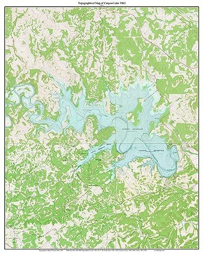 Amazon.com: Canyon Lake - 1963 Texas Old Map - USGS Composite Custom on