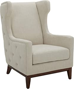 Amazon Brand – Stone & Beam Rosewood Button-Tufted Upholstered Wingback Accent Chair, 30