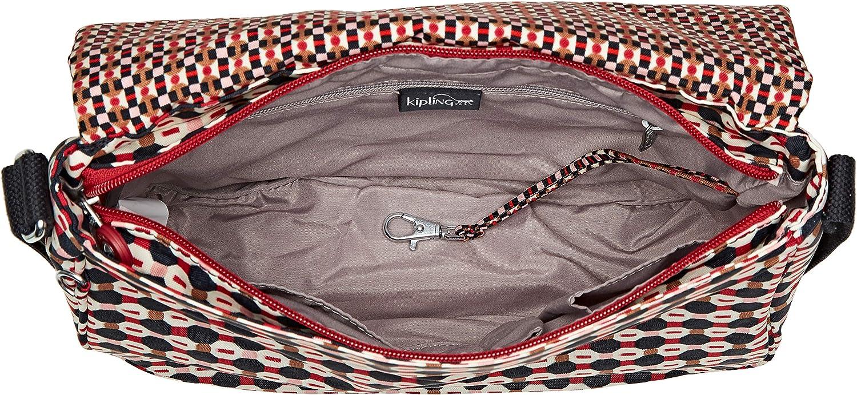 Kipling Earthbeat M, Borsa a tracolla Donna, multicolore, 30x22.5x10.5 cm Multicolore (Shapemix Bl)
