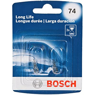 Bosch 74 Long Life Upgrade Minature Bulb, Pack of 2: Automotive