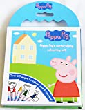 Peppa Pig Carry Along Colouring Pad Pencils Childrens Activity Set Kids