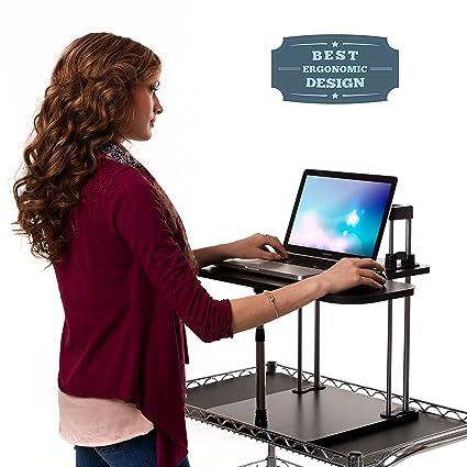 Mejor escritorio de pie, Altura Ajustable para Amazing salud beneficios, fácil de montar a