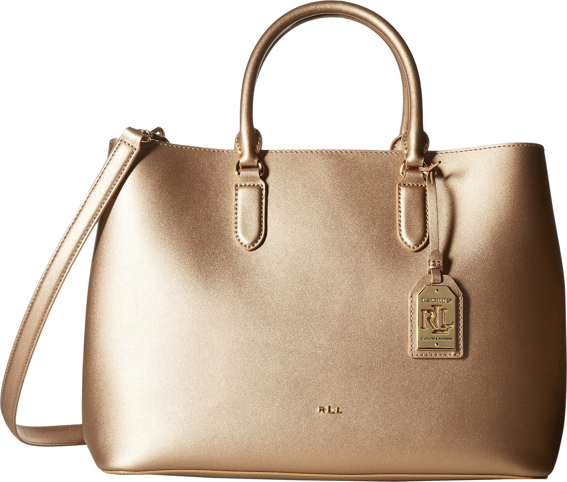 LAUREN Ralph Lauren Women's Dryden Marcy Tote Medium Gold/Birch One Size