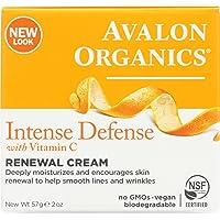 2-Pack Avalon Organics Intense Defense Renewal Cream 2 Oz