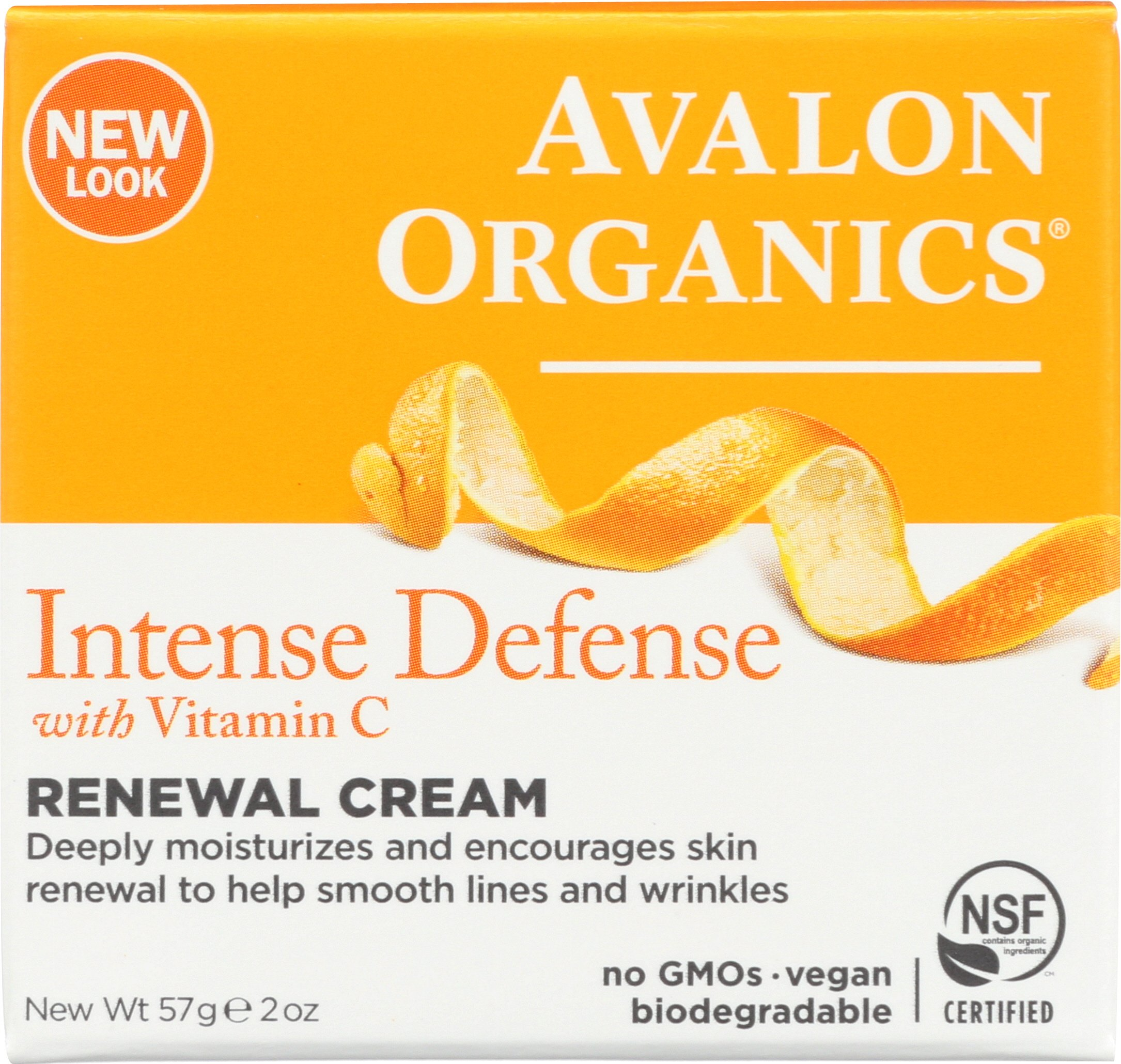 Avalon Organics Intense Defense Renewal Cream, 2 Ounce (Pack of 2)