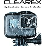 Hydrophobic Screen Protector for GoPro Hero 5 & GoPro Hero 6 by Clearex | Water Repellent, GoPro Lens, Ultra-Clear Tempered Glass, Anti-scratch | Capture Clearly