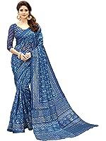 Glory Sarees Women's Bhagalpuri Art Silk Saree(gloryart14_blue)