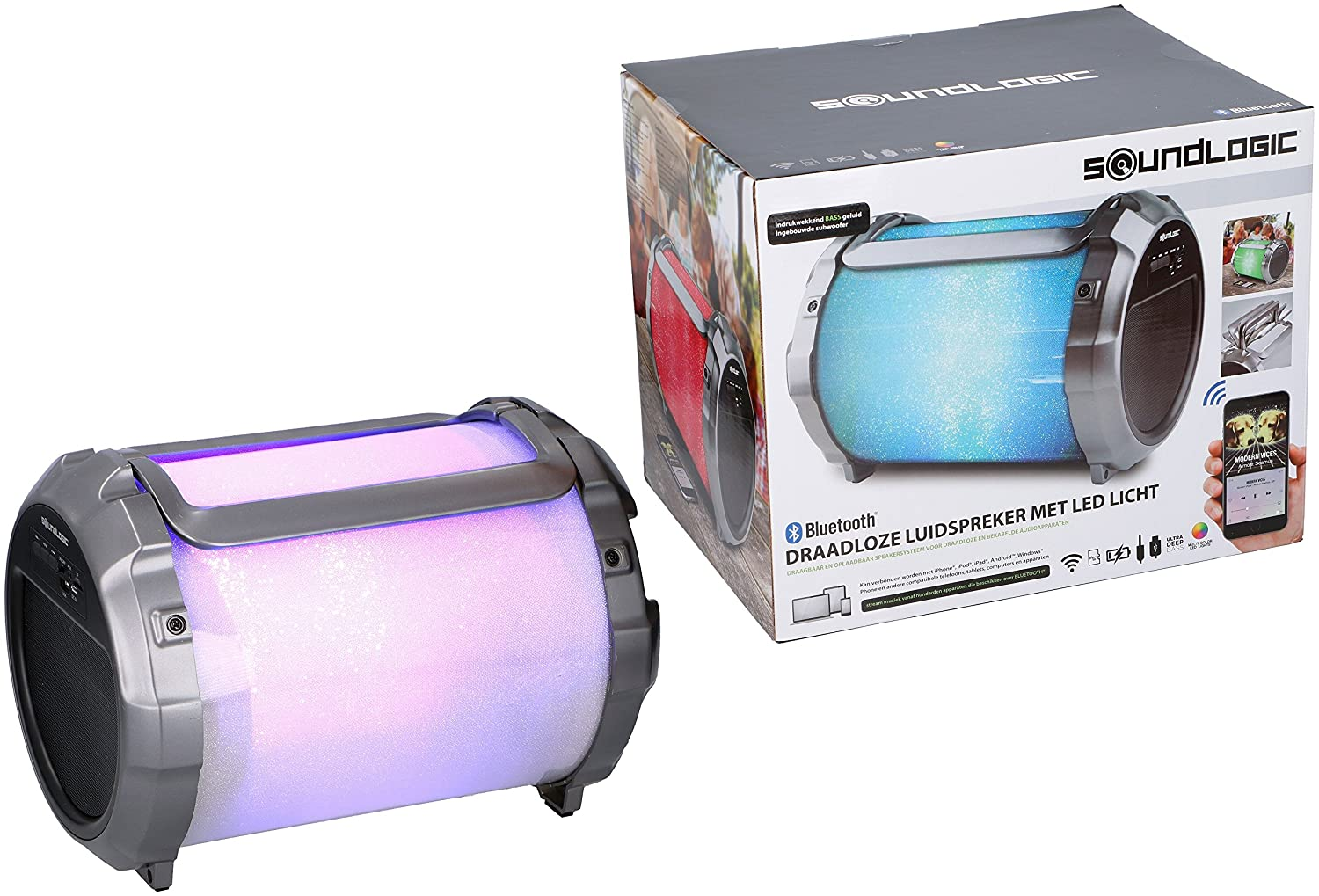 Speaker Met Licht : Sound logic xl portable speaker with led lights and amazon