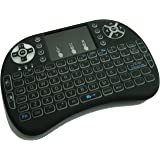 Quanmin I8 2.4Ghz Wireless Backlit Touchpad Mini Keyboard With Mouse For Pc Pad Xbox 360 Ps3 Google Android Tv Box HTPC IPTV(Black)