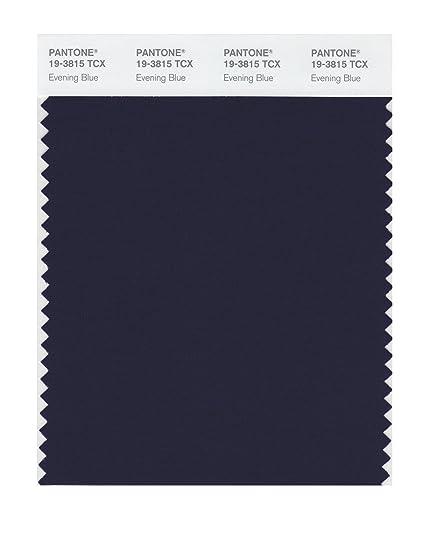 Pantone 19 3815 Tcx Smart Color Swatch Card Evening Blue House
