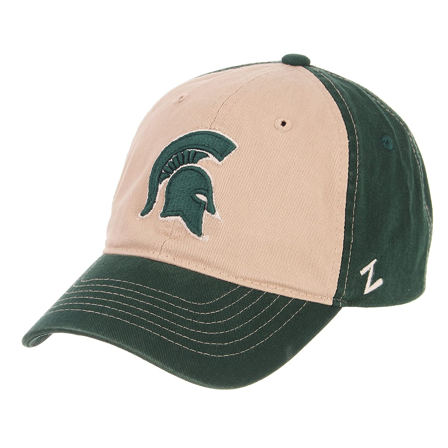 NCAA Zephyr Michigan State Spartans mens Moab Relaxed Hat Adjustable Stone//Team Color