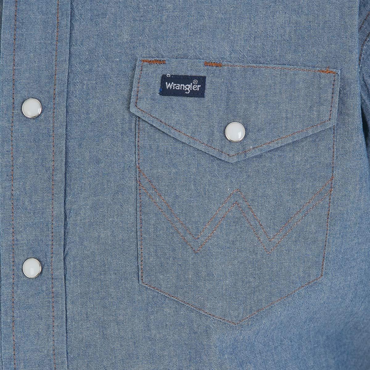 2c11382f59b Wrangler Men s Authentic Cowboy Cut Work Western Long-Sleeve Firm Finish  Shirt