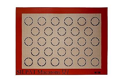 Silpat - Molde de horno para macaron (375 x 275 mm, 28 macaron)
