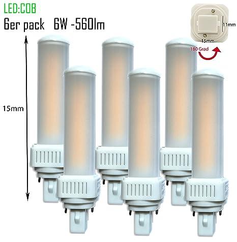 6 LED G24d-1 pl c pin2 Bombilla PL de c 6 W, 3000