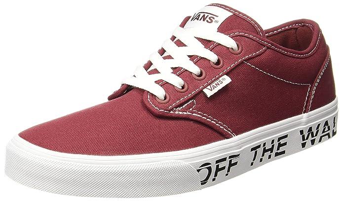 Vans Atwood Herren Sneaker Rot, Bedruckte Seitensohle