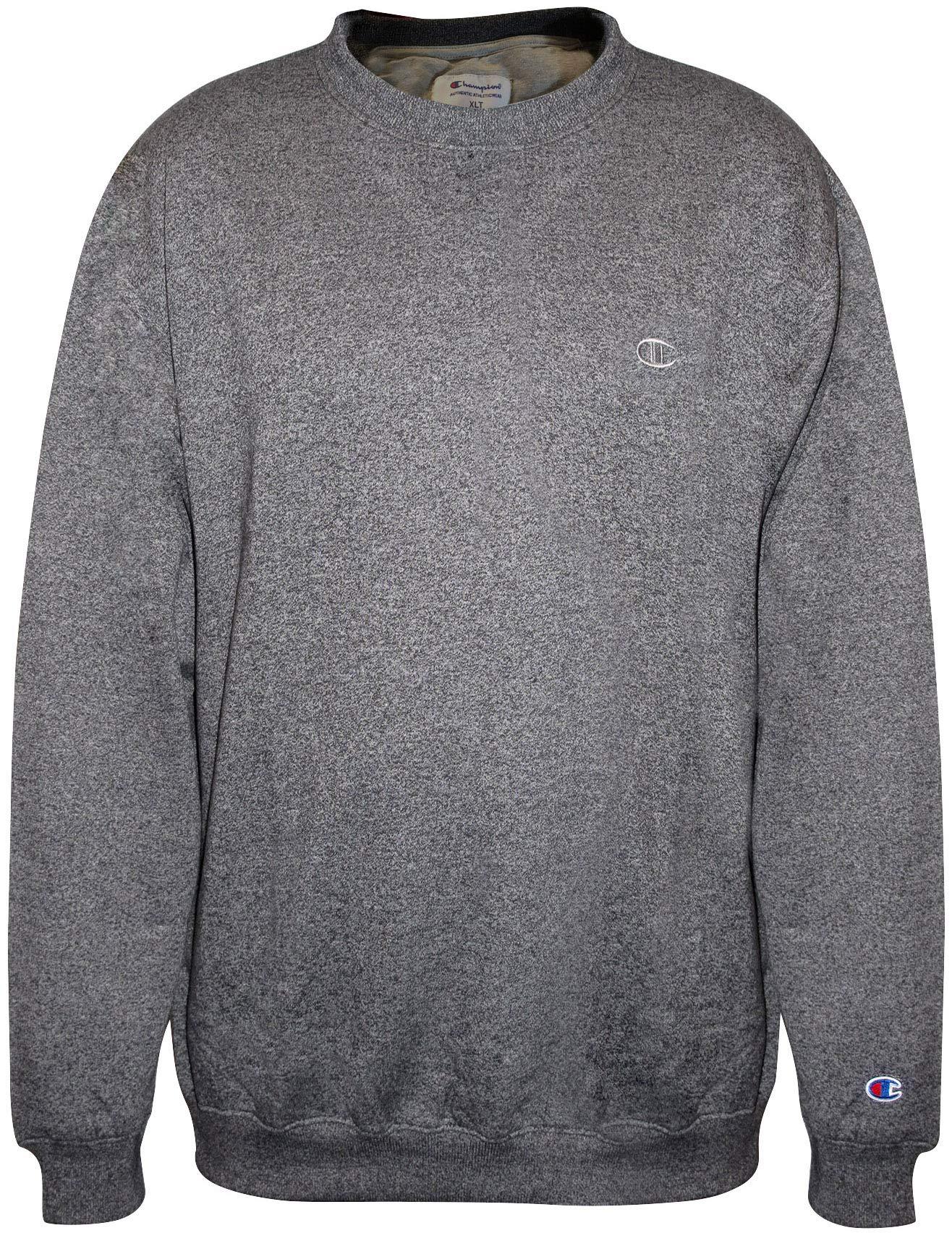 Champion Men Big-Tall Fleece Crew Sweatshirt, Black