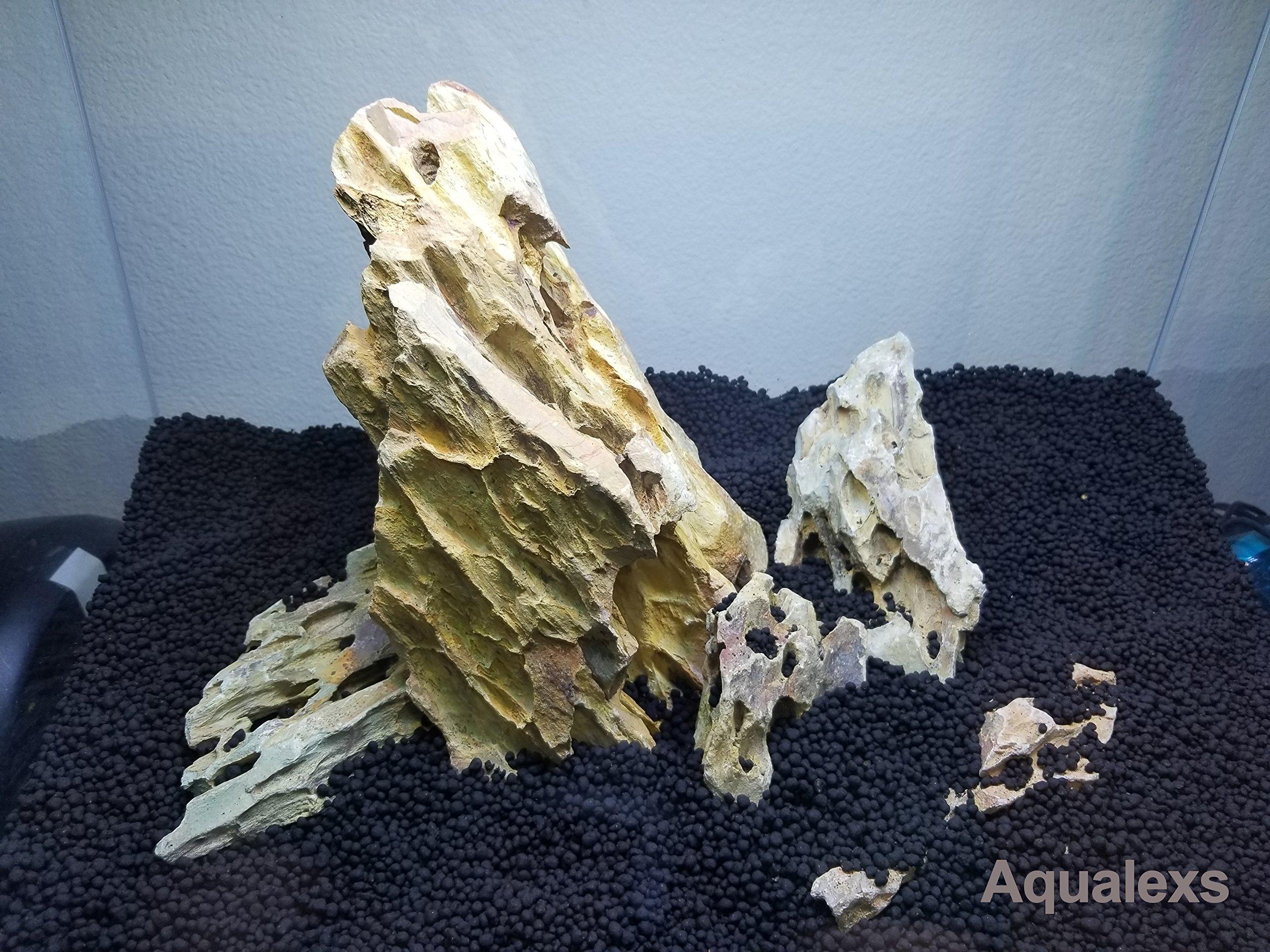 Aqualexs Ohko Dragon Stone Rock Mixed Sizes(10 Lbs) by Aqualexs