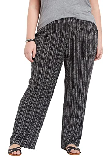 2cfddff42cc3 maurices Women's Plus Size Stripe Wide Leg Pant at Amazon Women's Clothing  store: