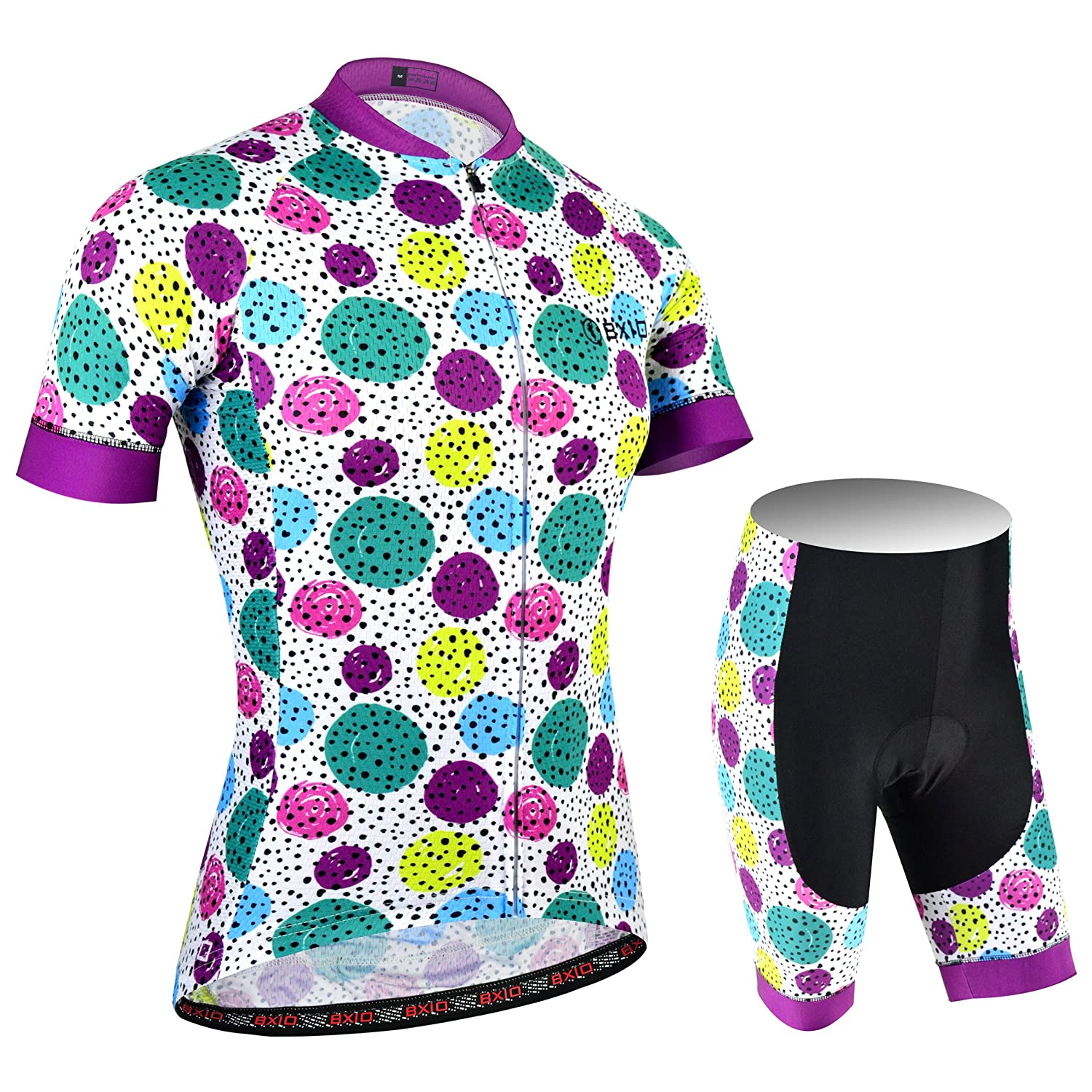 Shirt and Shorts BXIO Women Cycling Suit MTB Cycling Jerseys Pro Team Bicycle Jerseys Promotion Bike Wear Girls Cycling Clothing BX176