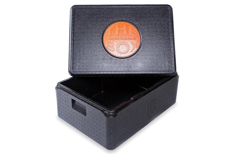 *7er Paket* - THE BOX Thermobox Universal mittel, Art. 79801; schwarz, Außenmaß 68,5 x 48,5 x 26,5 cm, Innenmaß 62,5 x 42,5 x 20 cm, Nutzhöhe 20 cm, 53 l.