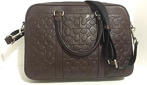 Coach Slim Brief Brown In Signature Leather