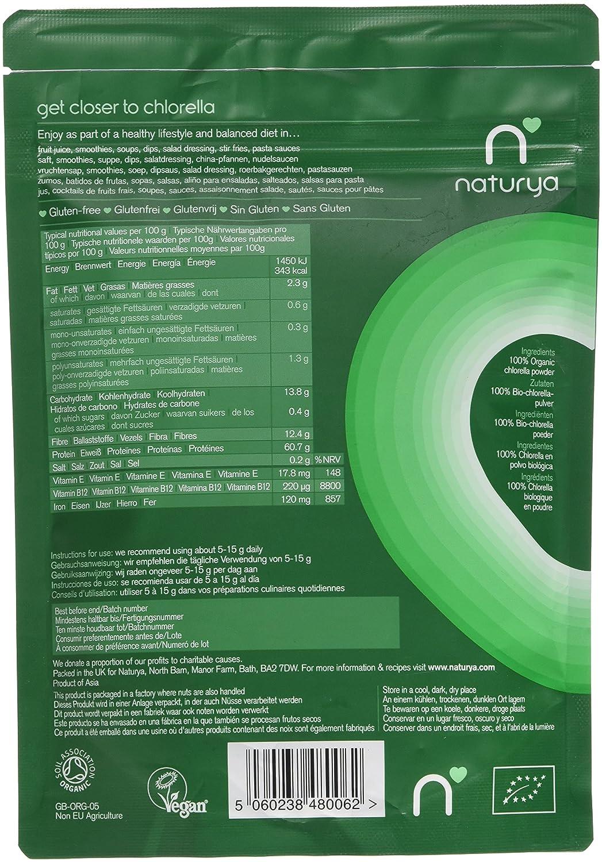 Amazon.com : Naturya Organic Chlorella Powder 200 g Nutritional Power Food Pouch : Nutritional Supplements And Vitamins : Beauty