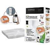 CASO Profi- Folienbeutel 30x40 cm (1220) / 50 Beutel mit Etiketten für alle Balken Vakuumierer geeignet / Kochfest - Mikrowellen geeignet - Sous Vide geeignet / stabile Schweißnaht / Materialstärke ca. 160 µm / kostenlose Food-Manager App