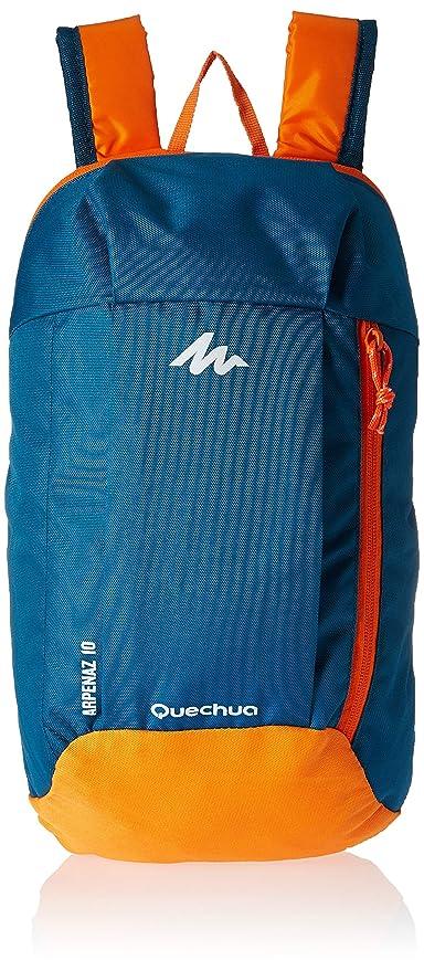 quechua mochila para azul/naranja 10L H 40 x 23 x D 10 W
