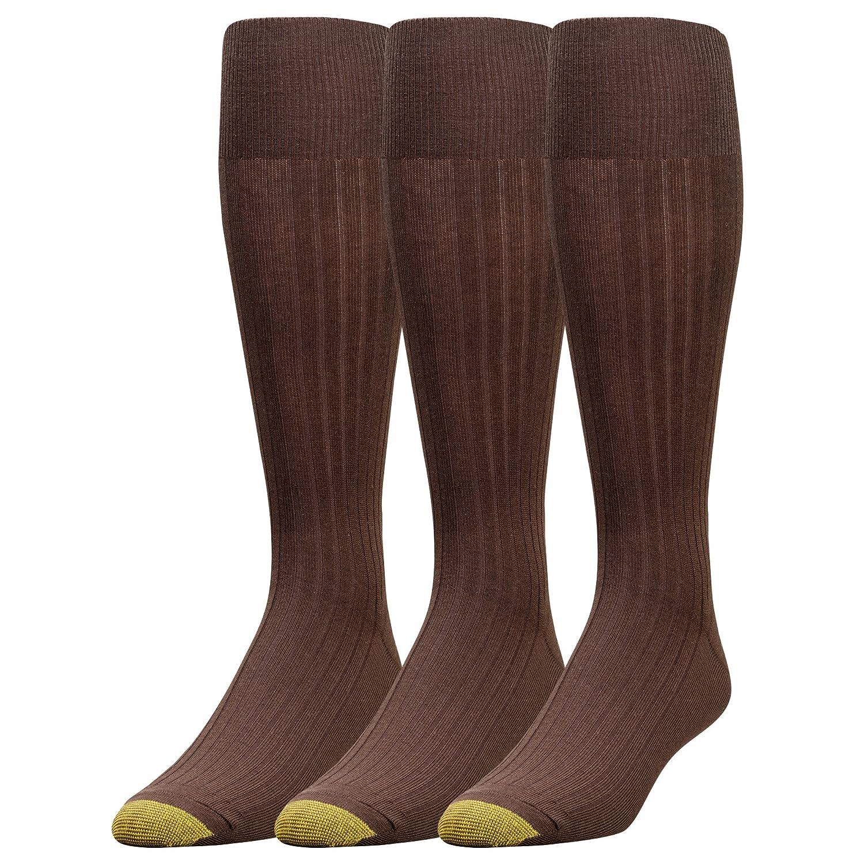 Gold Toe Men's Premium Over the Calf Canterbury Dress Socks, 3-Pack 794H