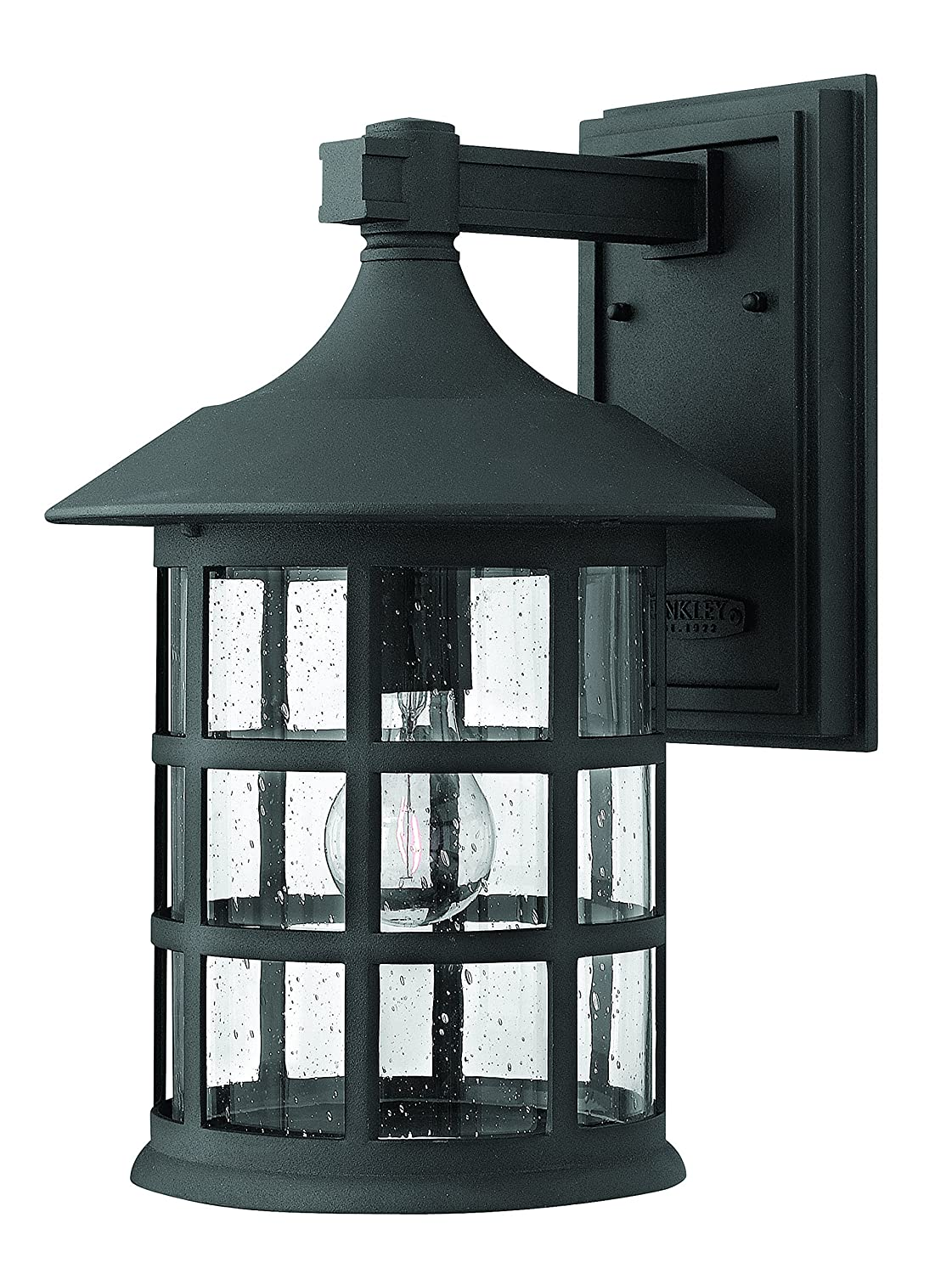 hinkley 1805bk traditional one light wall mount from freeport