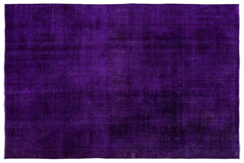 Bespoky ビンテージ 手織 ラグ 紫の 大きいサイズ 209 X 310 Cm   B07HKXWCF9
