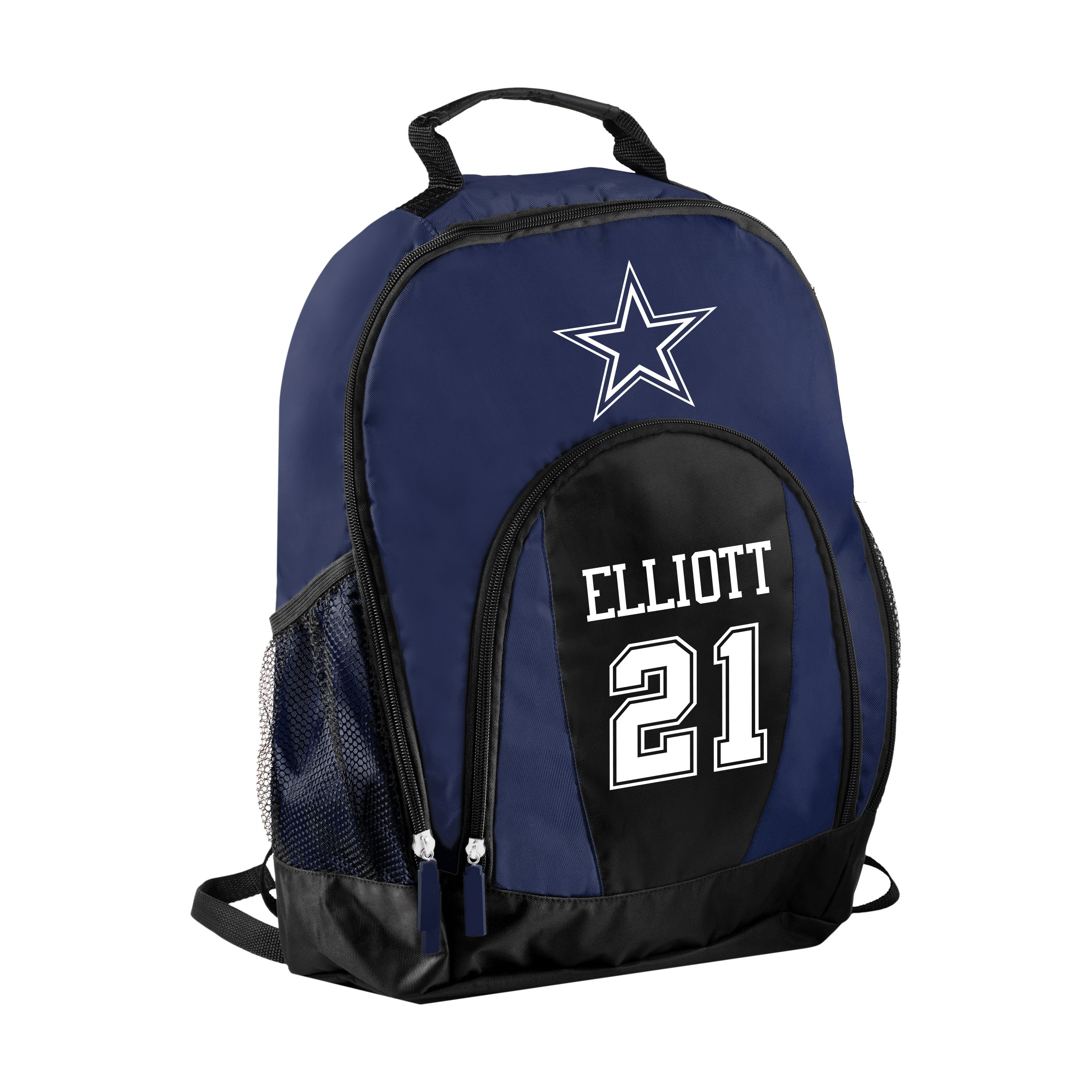 FOCO NFL Dallas Cowboys Ezekiel Elliott #21 Primetime Backpack School Gym Bag by FOCO