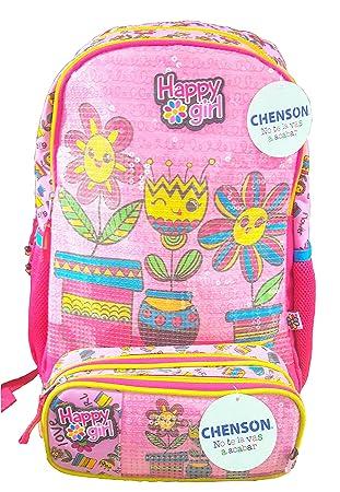 Mochila Infantil Escolar Para Niña Mas Estuche De REGALO (ROSA): Amazon.es: Equipaje