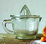Creative Co-Op 2-Piece Clear Pressed Glass Juicer