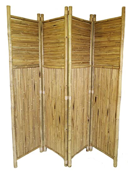 amazon com bamboo 4 panel screen outdoor decorative fences