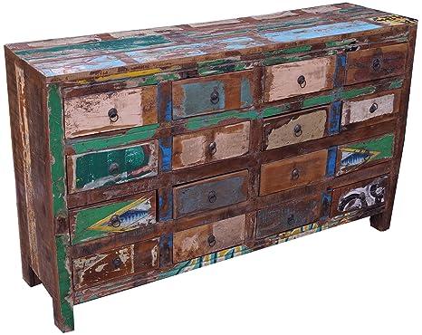 Guru-Shop Reciclar Armario de Cajones de Madera, 88x147x39 cm, Cómodas y Aparadores